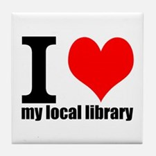 Library Love Tile Coaster