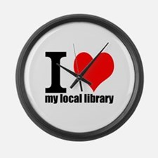 Library Love Large Wall Clock