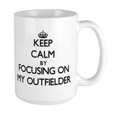 Keep Calm by focusing on My Outfielder Mugs