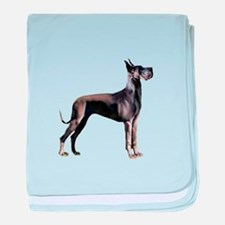 Black Great Dane (stnd) baby blanket