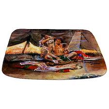 Native American Couple Bathmat