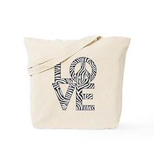 Love Peace Zebra Tote Bag