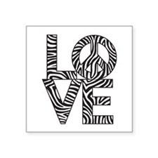 Love Peace Zebra Sticker