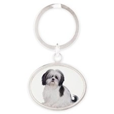 Shih Tzu (A) Oval Keychain