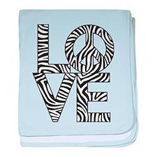 Love Peace Zebra baby blanket