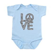 Love Peace Zebra Body Suit