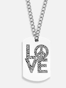 Love Peace Zebra Dog Tags