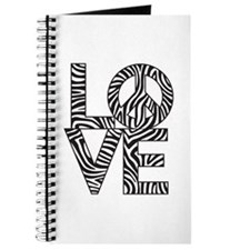 Love Peace Zebra Journal