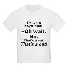 No Boyfriends Just Cats T-Shirt