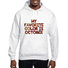 My favorite color is October Hoodie