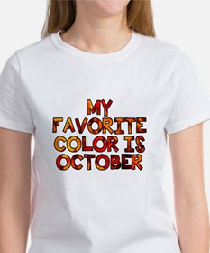 My favorite color is October Women's T-Shirt
