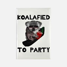 Koalafied to Party Rectangle Magnet