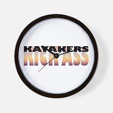 Kayakers Kick Ass Wall Clock