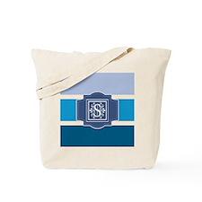Letter S Monogrammed Blue Stripes Tote Bag