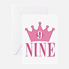 Nine - 9th Birthday - Princess Birthday Party Gree