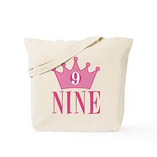 Nine - 9th Birthday - Princess Birthday Party Tote