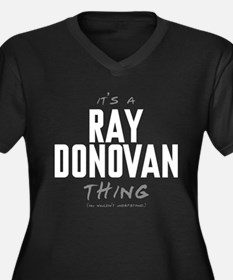 It's a Ray Donovan Thing Women's Dark Plus Size V-