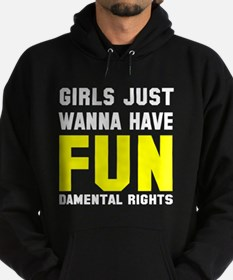 Girls want fundamental rights Hoodie (dark)
