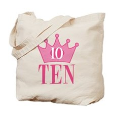 Ten - 10th Birthday - Princess Birthday Party Tote