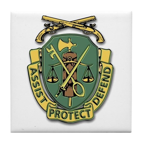 Military Police Corps Tile Coaster