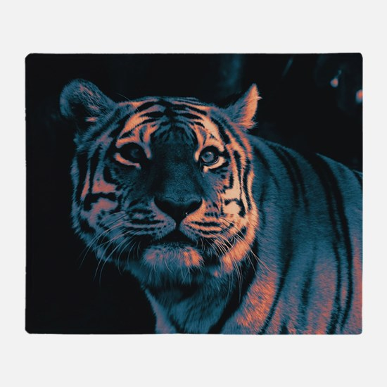Tiger, Sunset Throw Blanket