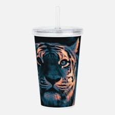 Tiger, Sunset Acrylic Double-wall Tumbler
