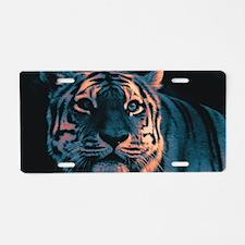 Tiger, Sunset Aluminum License Plate