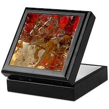 Golden horses Keepsake Box