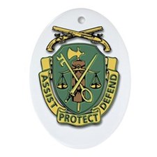 Military Police Corps Oval Ornament