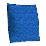 Textured Light Blue Look Burlap Throw Pillow