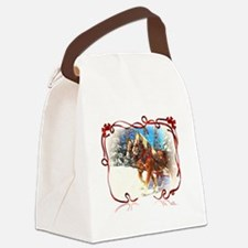 Holiday season' s sleigh ride Canvas Lunch Bag