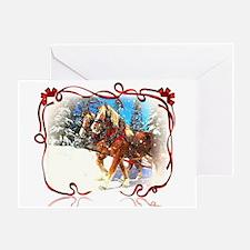 Holiday season' s sleigh ride Greeting Card