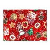 Christmas cookie Area Rugs