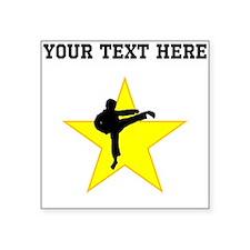Karate Kick Silhouette Star (Custom) Sticker