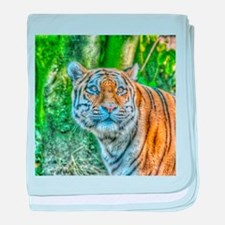 Tiger,Painting baby blanket
