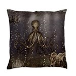 Octopus' lair - Old Photo Master Pillow