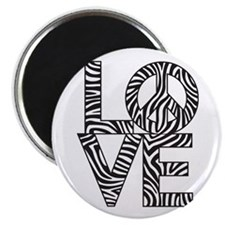 Love Peace Zebra Magnets