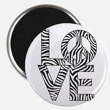 Love Peace Zebra Magnets
