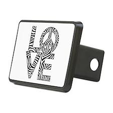 Love Peace Zebra Hitch Cover