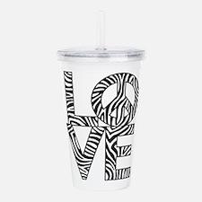 Love Peace Zebra Acrylic Double-wall Tumbler