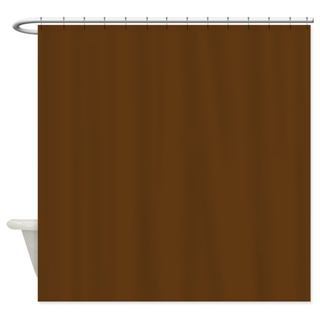 Dark Brown Solid Color Shower Curtain By Beautifulbed