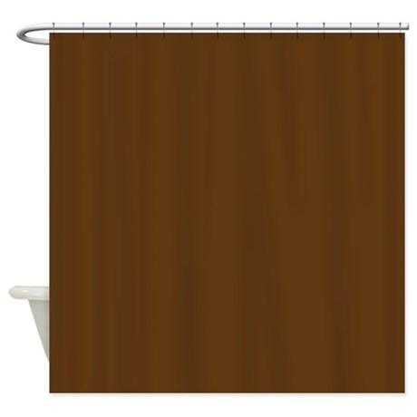 Dark Brown Solid Color Shower Curtain