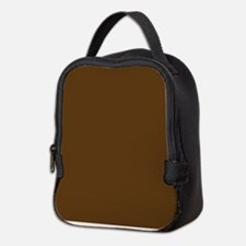 Dark Brown Solid Color Neoprene Lunch Bag