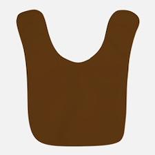 Dark Brown Solid Color Bib