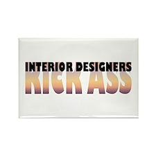 Interior Designers Kick Ass Rectangle Magnet (100