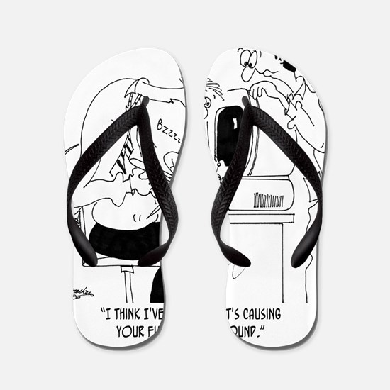 Bee Cartoon 6985 Flip Flops
