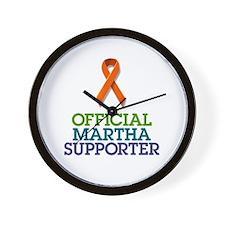 Official Martha Suporter Wall Clock