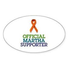 Official Martha Suporter Oval Decal