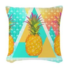 Pineapples Woven Throw Pillow