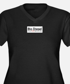 bio diesel Women's Plus Size V-Neck Dark T-Shirt